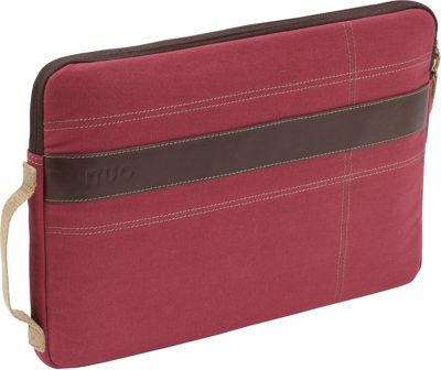 Nuo Canvas Sleeve for 13 inch MacBook Pro Red/Tan - Nuo Electronic Cases