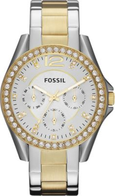 Fossil Riley Silver and Gold - Fossil Watches