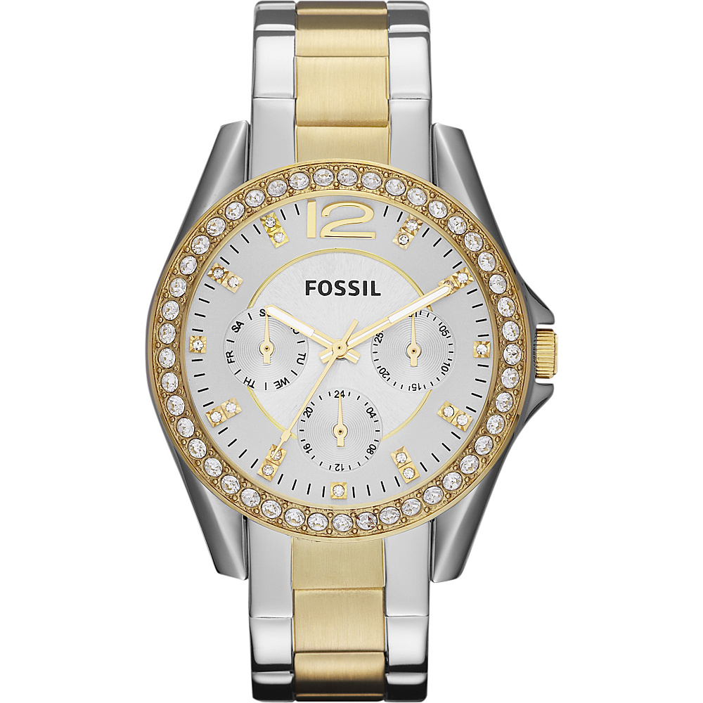 Fossil Riley Silver and Gold - Fossil Watches - Fashion Accessories, Watches