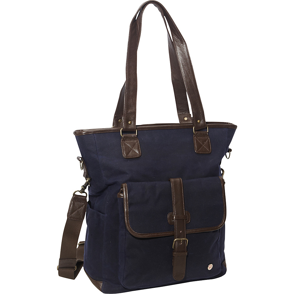 TOKEN Amsterdam Waxed Tote Bag Navy - TOKEN Fabric Handbags
