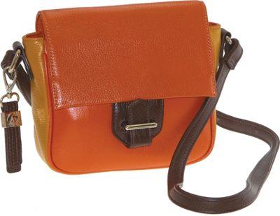 Buxton Hailey Crossbody Orange - Buxton Leather Handbags