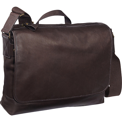 eBags Laptop Collection Tribeca Colombian Leather Vintage Laptop Messenger Brown - eBags Laptop Collection Laptop Messenger Bags