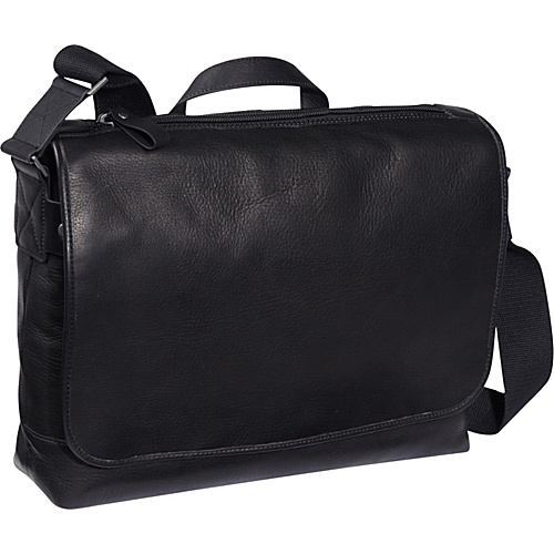 eBags Laptop Collection Tribeca Colombian Leather Vintage Laptop Messenger Black - eBags Laptop Collection Laptop Messenger Bags