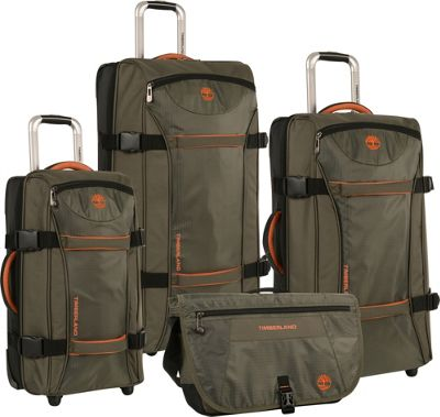 Timberland Twin Mountain 4 Piece Luggage Set Burnt Orange - Timberland Luggage Sets