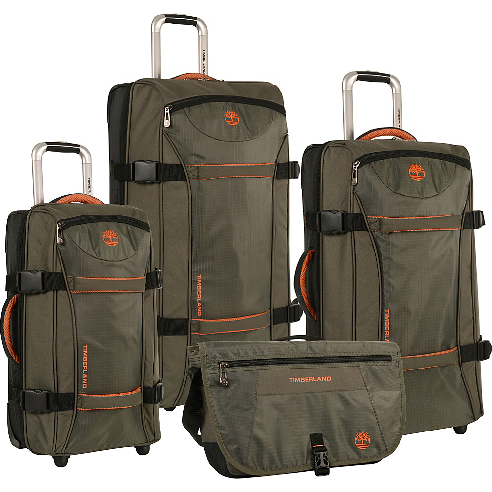 Timberland Twin Mountain 4 Piece Luggage Set Burnt Orange Timberland Luggage Sets