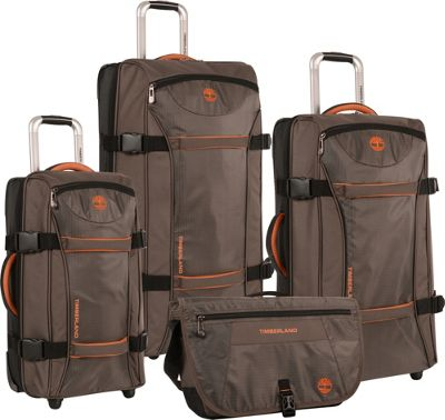 Timberland Twin Mountain 4 Piece Luggage Set Cocoa - Timberland Luggage Sets