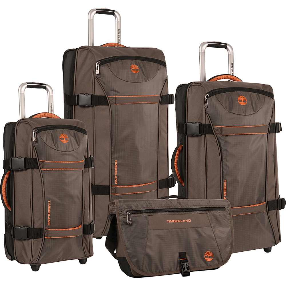 Timberland Twin Mountain 4 Piece Luggage Set Cocoa Timberland Luggage Sets