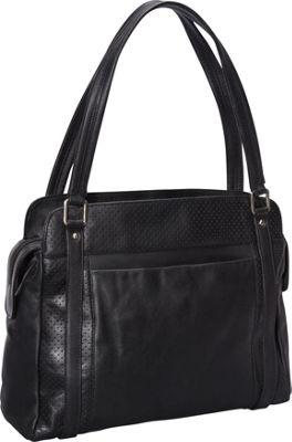 Derek Alexander Top Zip Shoulder Bag Black - Derek Alexander Leather Handbags
