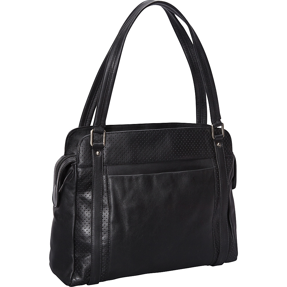 Derek Alexander Top Zip Shoulder Bag Black - Derek Alexander Leather Handbags - Handbags, Leather Handbags