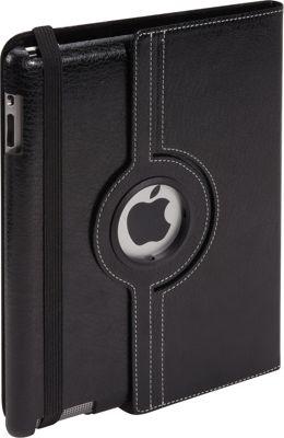 Bellino 360 Rotation Case - New iPad and iPad 2 Black - Bellino Electronic Cases