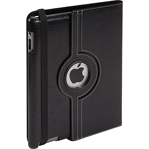 Bellino 360 Rotation Case - New iPad and iPad 2 Black - Bellino Laptop Sleeves