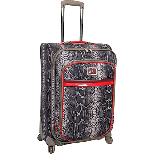 "Jessica Simpson Luggage Snake 24"" Exp. Upright Neutral - Jessica Simpson Luggage Large Rolling Luggage"