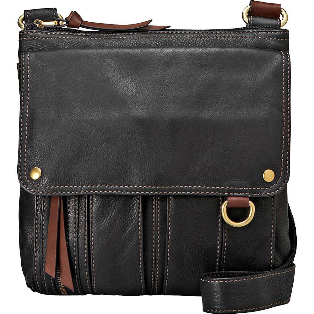 Fossil Morgan Traveler Black Fossil Leather Handbags
