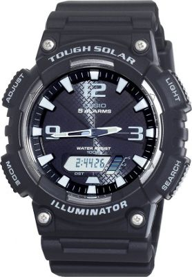Casio Casio Men's Solar Sport Combination Watch Black - Casio Watches