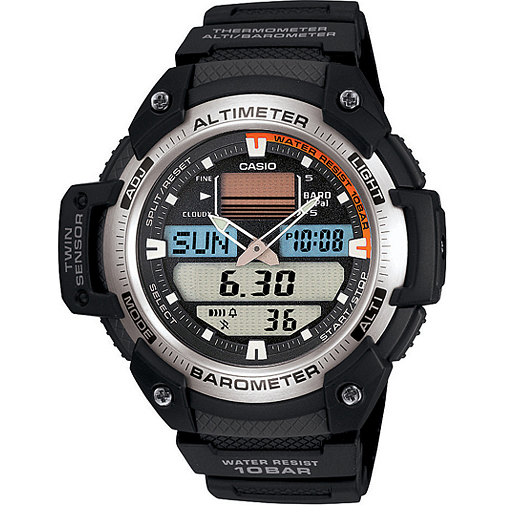 Casio Men's Sport Multi-Function Grey Dial Watch Black - Casio Watches