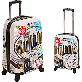 Traveler 2 Piece Hardside Luggage Set New York