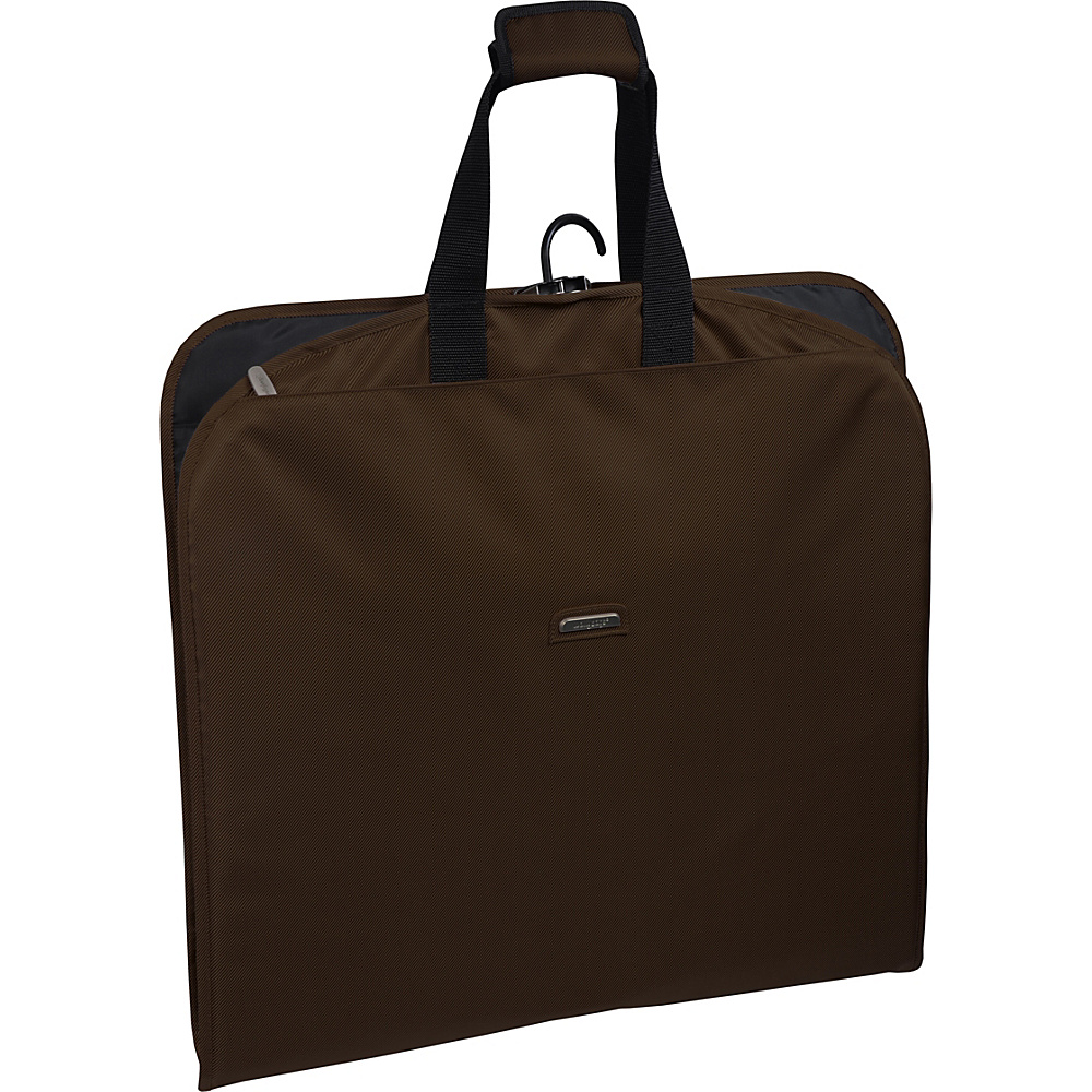 "Wally Bags 45"" Slim Garment Bag Brown - Wally Bags Garment Bags"
