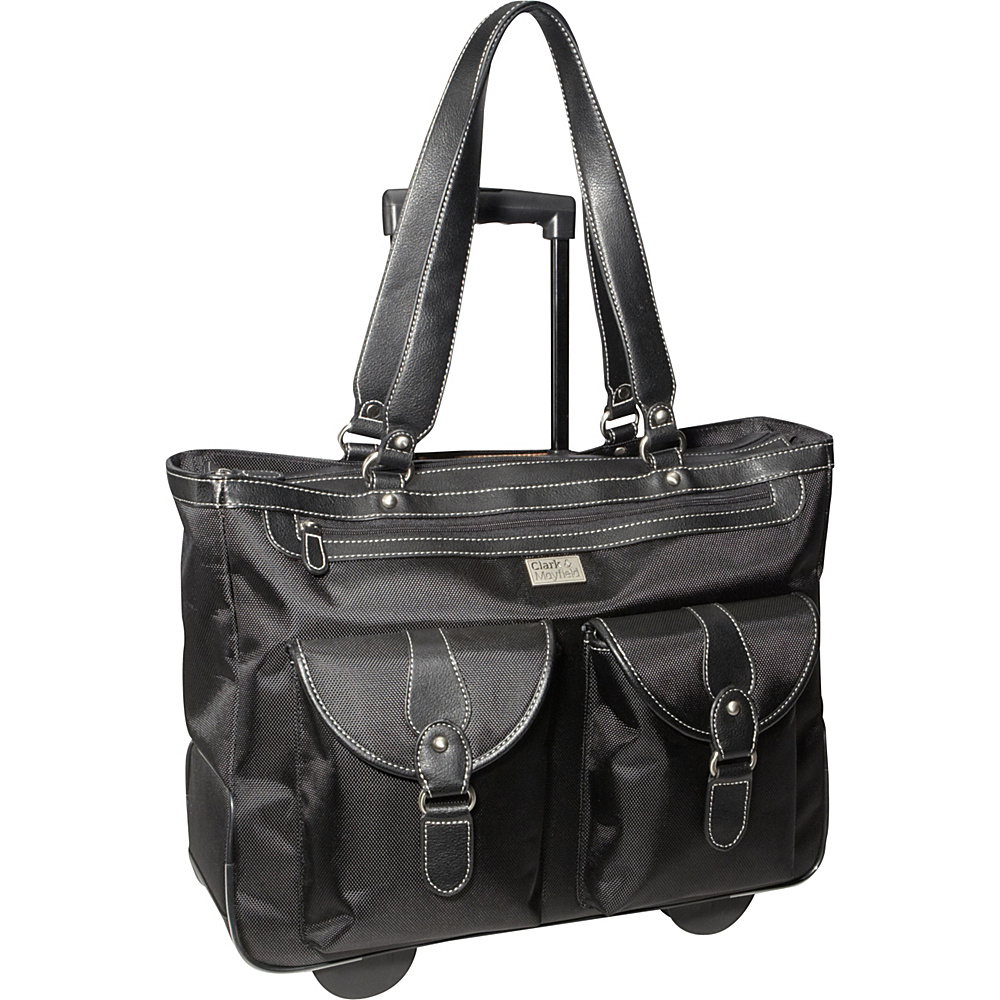 "Clark & Mayfield Marquam 18.4"" Rolling Laptop Tote Black - Clark & Mayfield Wheeled Business Cases"
