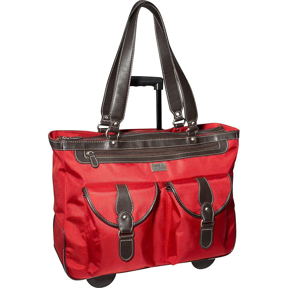 Clark Mayfield Marquam 18.4 Rolling Laptop Tote Red Clark Mayfield Wheeled Business Cases