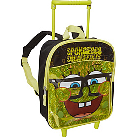 SpongeBob 12 inch Rolling Backpack Yellow