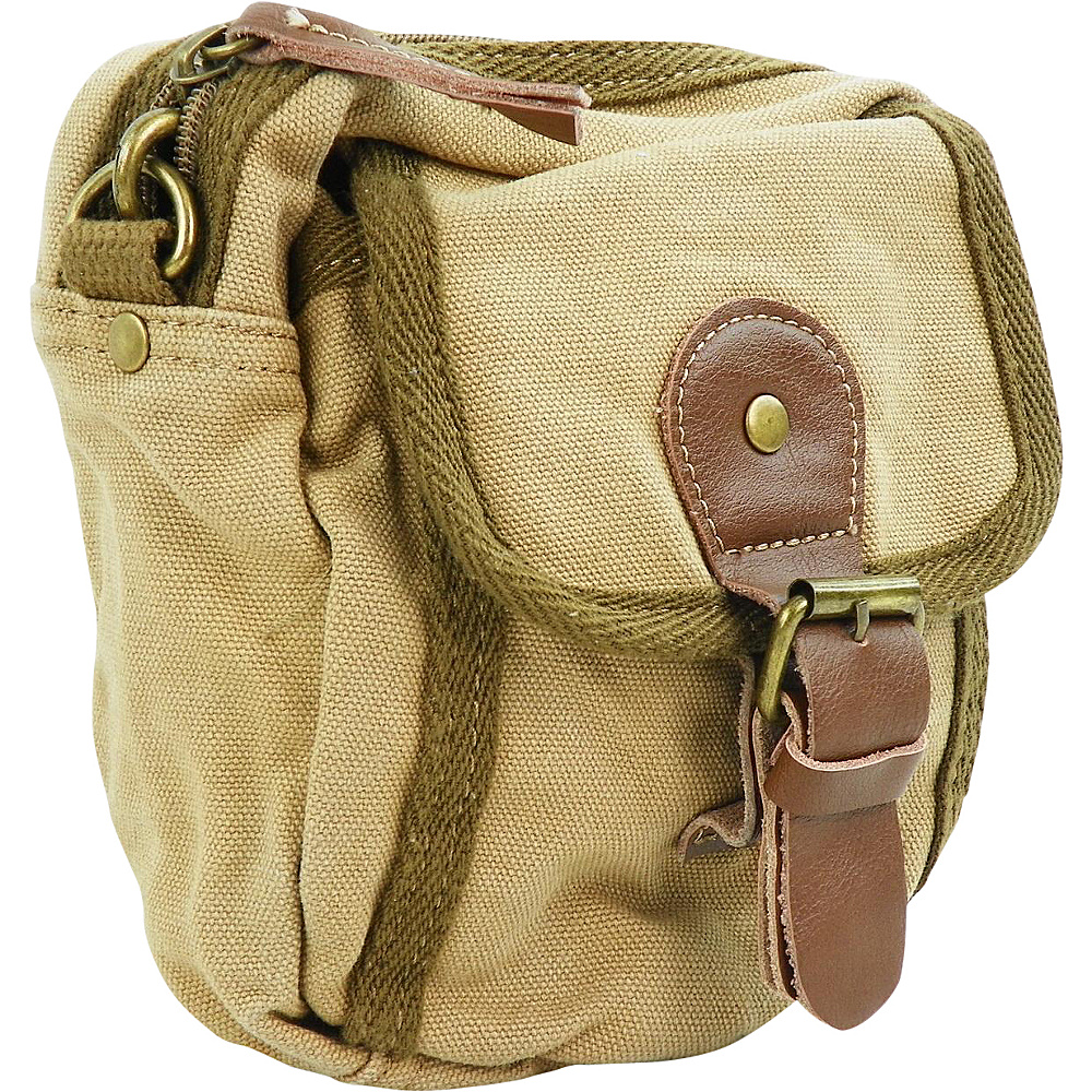 Vagabond Traveler Canvas Sorts Waist Bag Khaki - Vagabond Traveler Waist Packs - Backpacks, Waist Packs