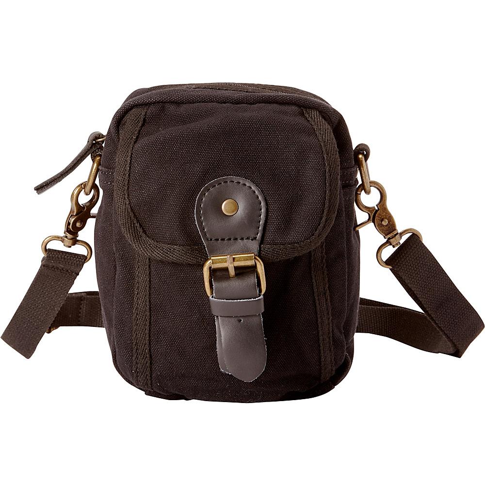 Vagabond Traveler Canvas Sorts Waist Bag Black - Vagabond Traveler Waist Packs - Backpacks, Waist Packs