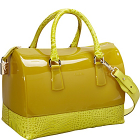 Candy Bauletto Gomma/Croco Lime
