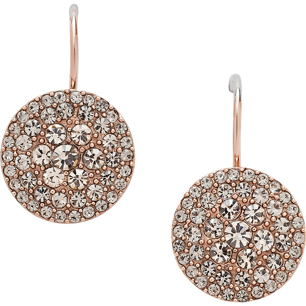 Fossil Glitz Disc Earring Rose Gold Fossil Other Fashion Accessories