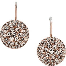 Glitz Disc Earring Rose Gold