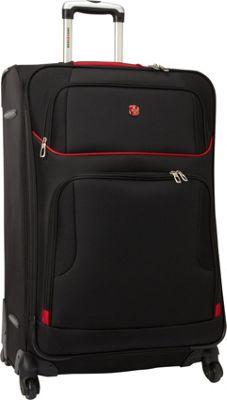 SwissGear Travel Gear 28 inch Exp. Spinner Upright Black with Red - SwissGear Travel Gear Softside Checked