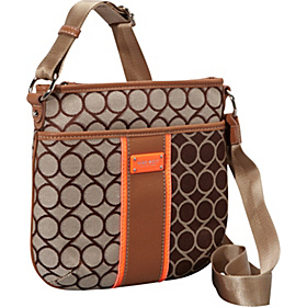 On Cloud 9 Medium Cross Body  Brown-Khaki/Cognac/Hot Coral