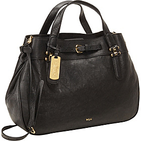 Chandler Belted Satchel Black