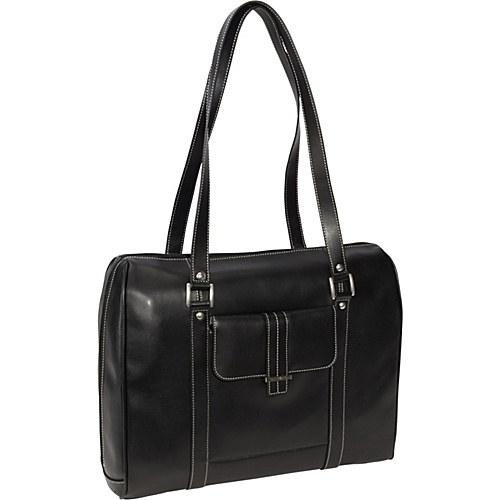 Samsonite Ladies Leather Laptop Satchel Black - Samsonite Ladies' Business