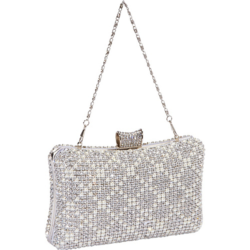 J. Furmani Hardcase Crystal Evening Bag Silver - J. Furmani Evening Bags
