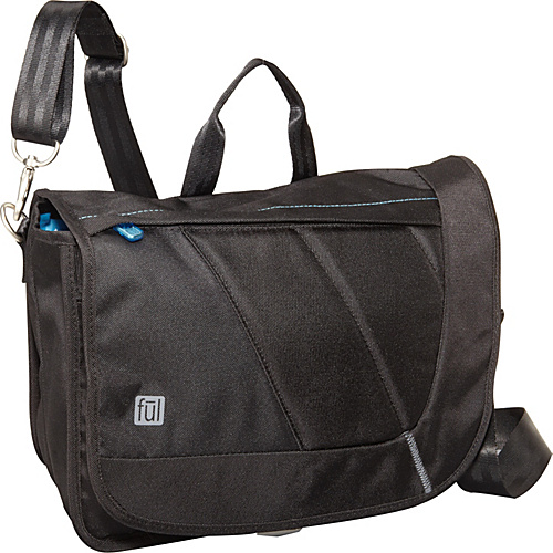 ful Vertical e-Reader Tablet Messenger Black - ful Messenger Bags
