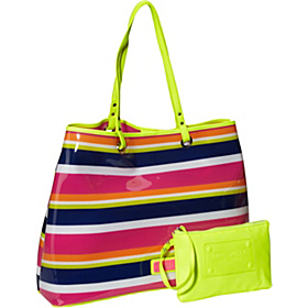 Beach Bound Large Editor Tote Rosa Multi/Citron/Hot Magenta
