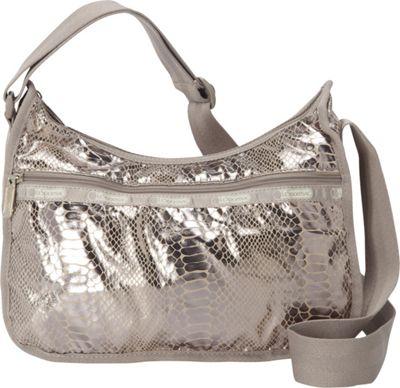 LeSportsac Classic Hobo Convertible Shoulder Bag (Special) Magnetic Snake - LeSportsac Fabric Handbags