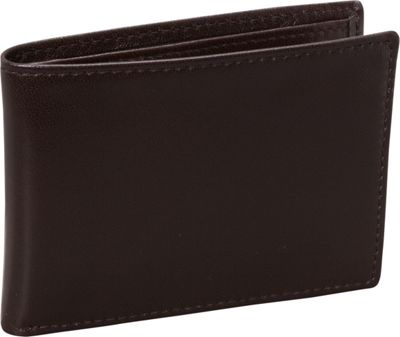 Budd Leather Nappa Soft Leather Slim Wallet w/ 6 Credit Card Slits Brown - Budd Leather Men's Wallets