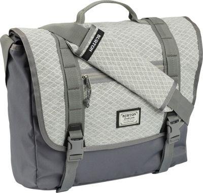 Burton Flint Messenger Gray Heather Diamond Ripstop - Burton Messenger Bags
