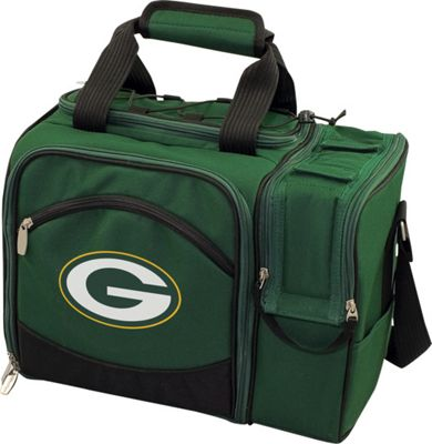 Picnic Time Green Bay Packers Malibu Insulated Picnic Pack Green Bay Packers Hunter - Picnic Time Outdoor Coolers