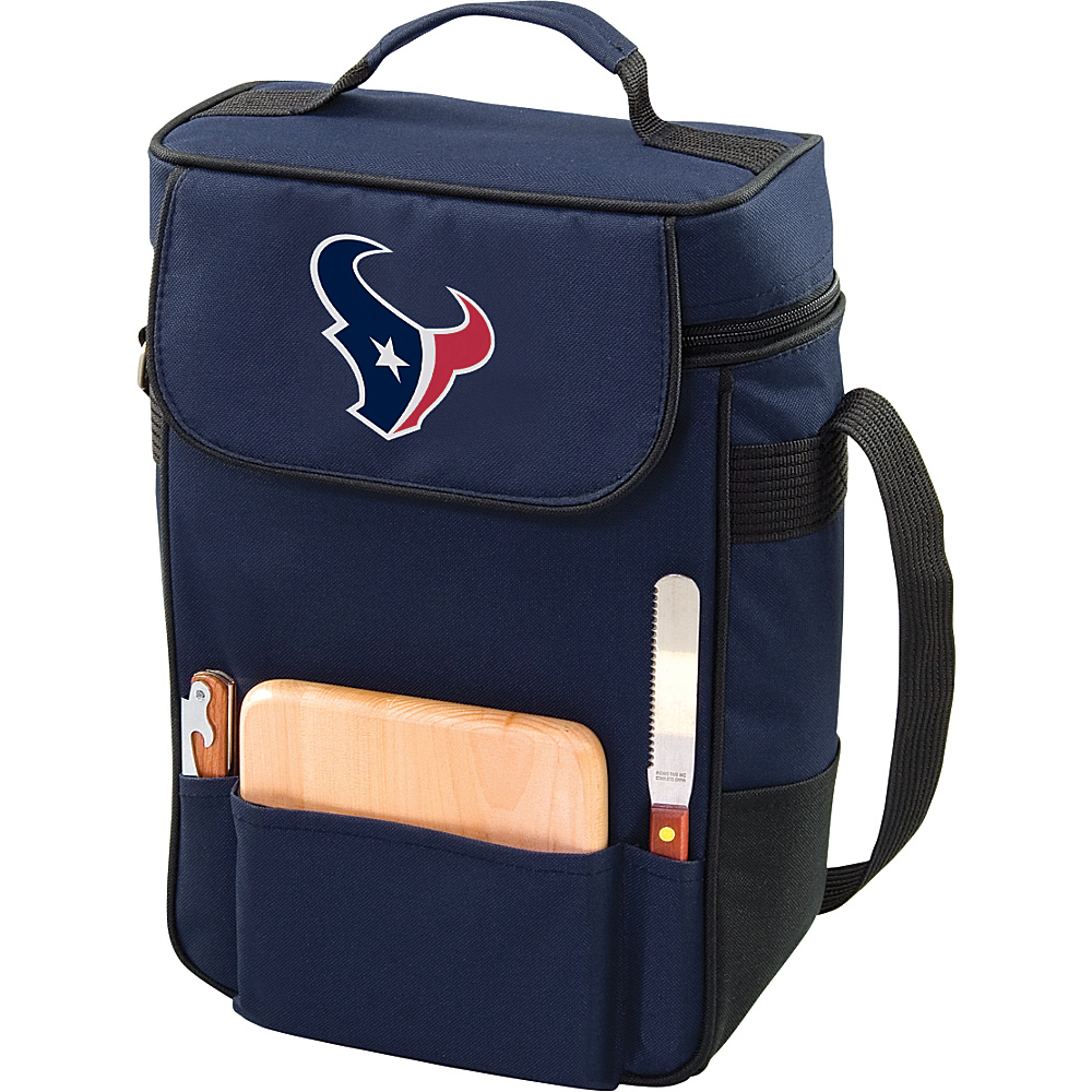 Picnic Time Houston Texans Duet Wine & Cheese Tote Houston Texans Navy - Picnic Time Outdoor Coolers - Outdoor, Outdoor Coolers