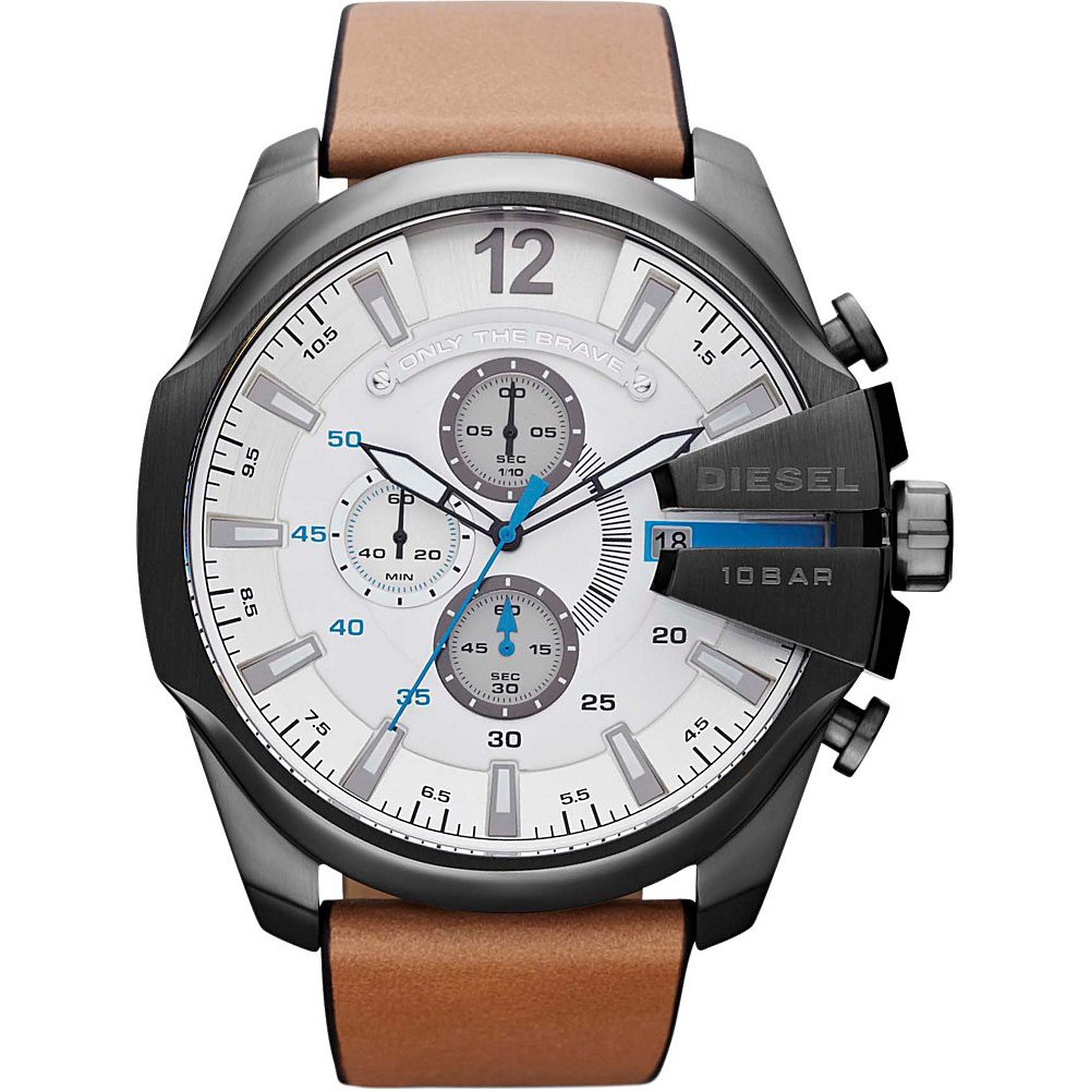 Diesel Watches Mega Chief Light Brown/Gunmetal - Diesel Watches Watches