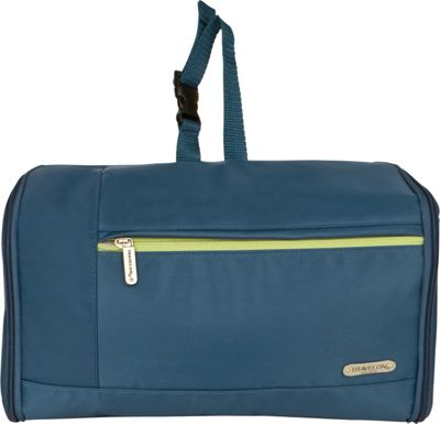 Travelon Flat-Out Hanging Toiletry Kit Steel Blue - Travelon Toiletry Kits