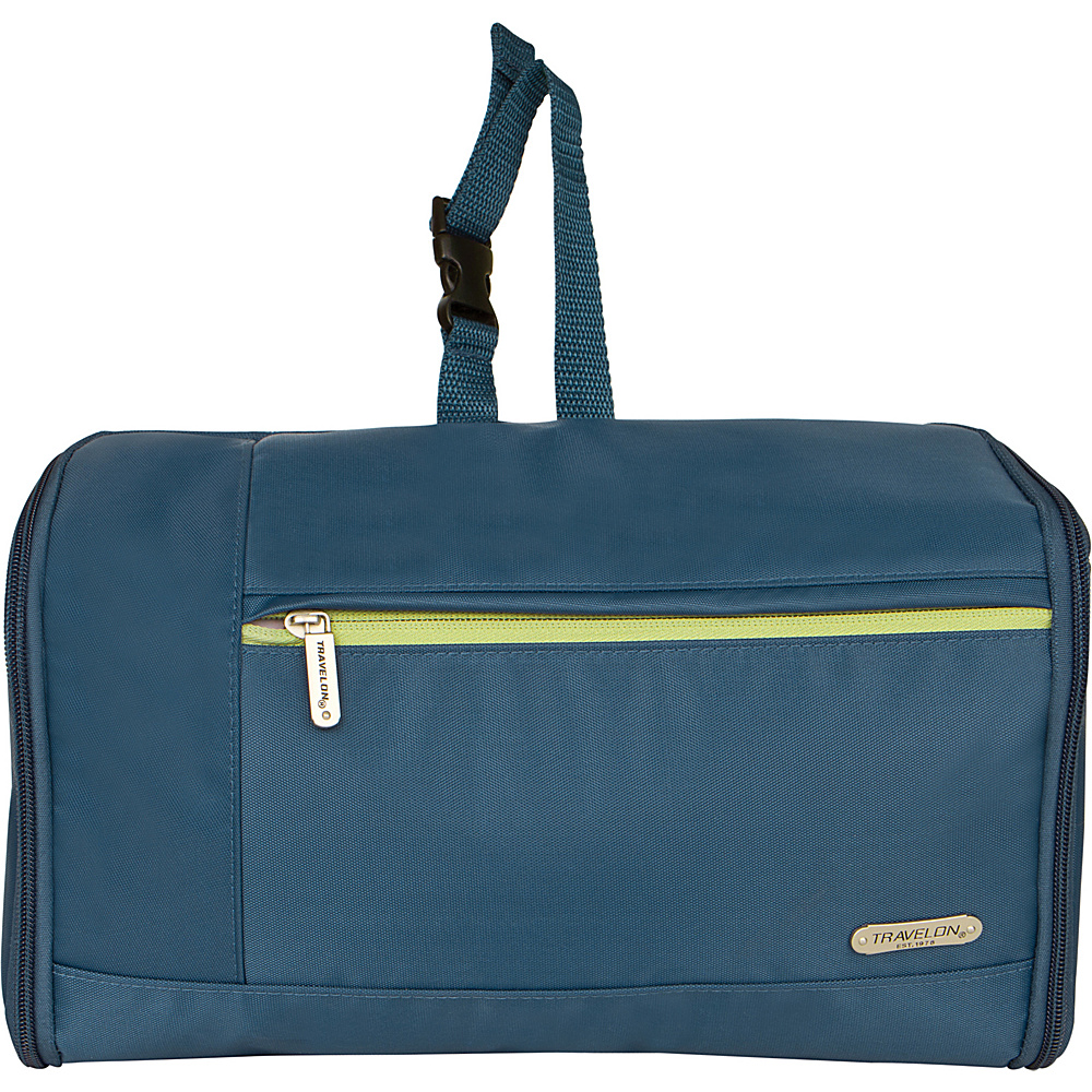 Travelon Flat-Out Hanging Toiletry Kit Steel Blue - Travelon Toiletry Kits - Travel Accessories, Toiletry Kits