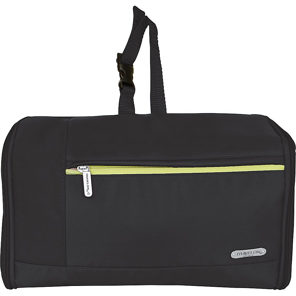 Travelon Flat-Out Hanging Toiletry Kit Black - Travelon Toiletry Kits - Travel Accessories, Toiletry Kits