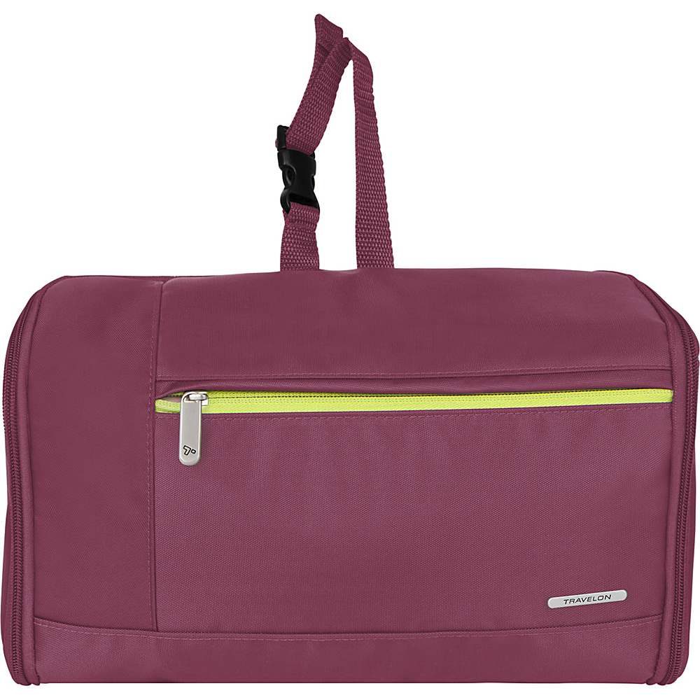 Travelon Flat-Out Hanging Toiletry Kit Plum - Travelon Toiletry Kits - Travel Accessories, Toiletry Kits