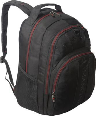 Mancini Leather Goods Backpack for 15.6 Laptop Computer Black - Mancini Leather Goods Computer Backpacks