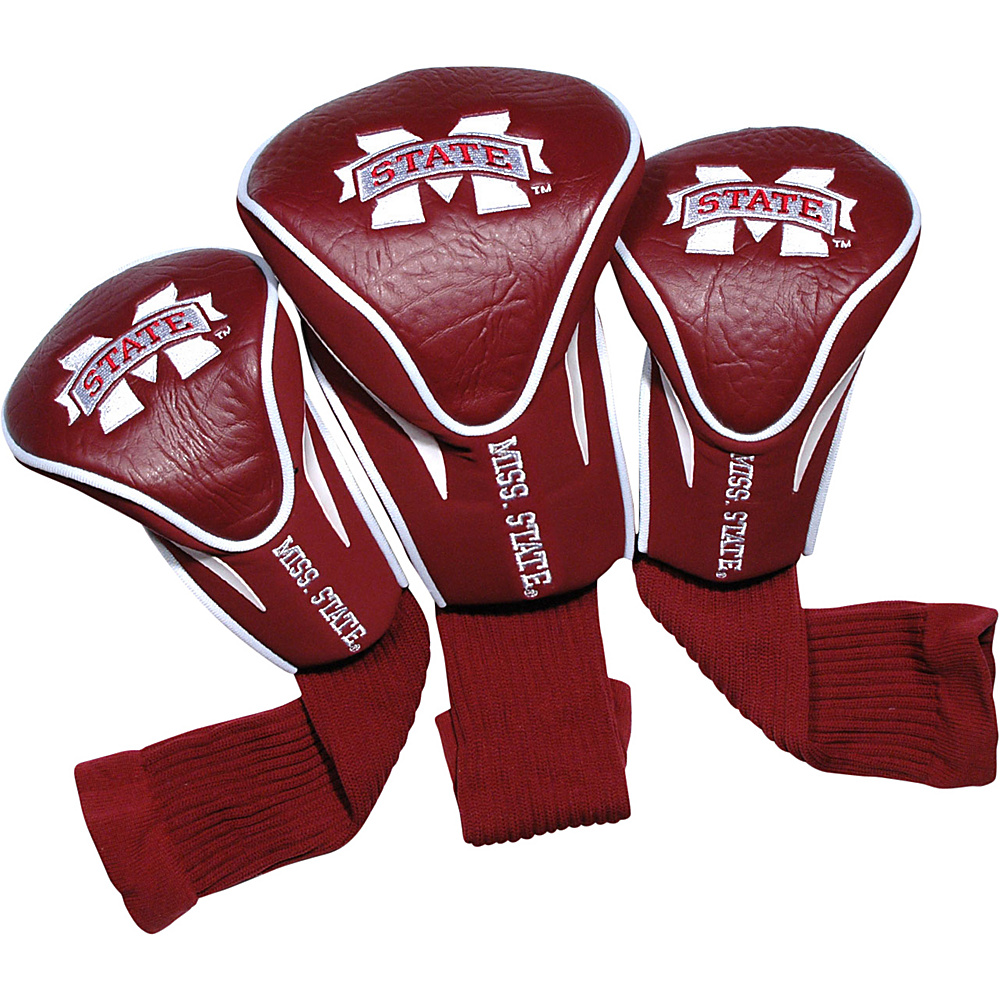 Team Golf USA Mississippi State University Bulldogs 3 Pack Contour Headcover Team Color - Team Golf USA Golf Bags