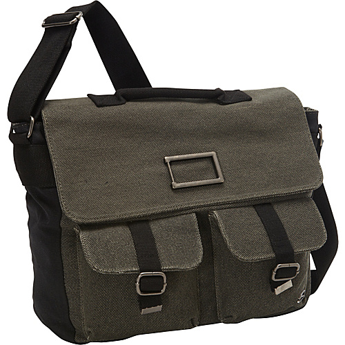 Ducti Fort Worth Utility Messenger Black - Ducti Men's Bags