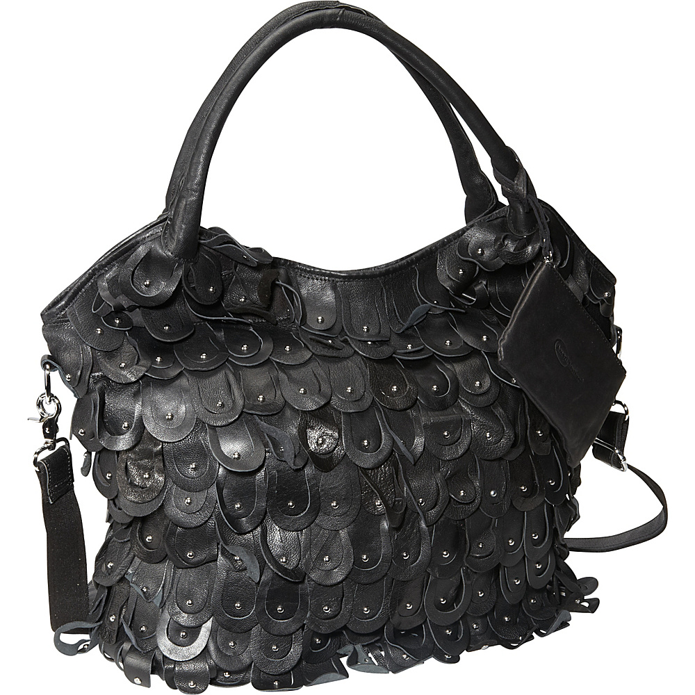 AmeriLeather Peacock Handbag Black - AmeriLeather Leather Handbags